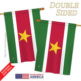 Suriname - Nationality Flags of the World Vertical Impressions Decorative Flags HG140222 Printed In USA