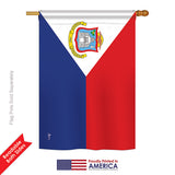 St. Martin - Nationality Flags of the World Vertical Impressions Decorative Flags HG140223 Printed In USA
