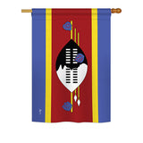Swaziland - Nationality Flags of the World Vertical Impressions Decorative Flags HG140224 Printed In USA