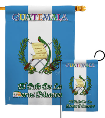Guatemala - Nationality Flags of the World Vertical Impressions Decorative Flags HG108096 Made In USA
