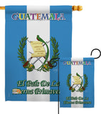 Guatemala - Nationality Flags of the World Vertical Impressions Decorative Flags HG108096 Printed In USA
