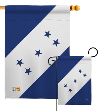Honduras - Nationality Flags of the World Vertical Impressions Decorative Flags HG108152 Made In USA