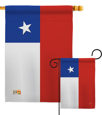 Chile - Nationality Flags of the World Vertical Impressions Decorative Flags HG108154 Made In USA