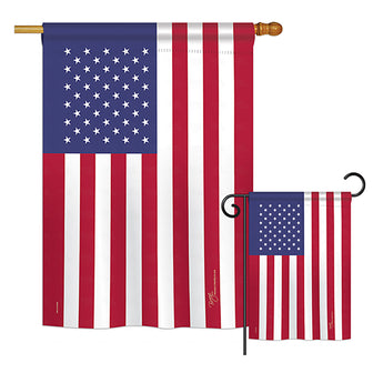 USA - Nationality Flags of the World Vertical Impressions Decorative Flags HG108184 Printed In USA