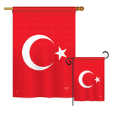 Turkey - Nationality Flags of the World Vertical Impressions Decorative Flags HG108194 Printed In USA