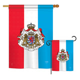 Luxembourg - Nationality Flags of the World Vertical Impressions Decorative Flags HG108199 Printed In USA