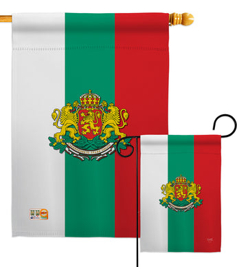 Bulgaria - Nationality Flags of the World Vertical Impressions Decorative Flags HG108204 Made In USA