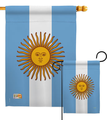Argentina - Nationality Flags of the World Vertical Impressions Decorative Flags HG108214 Made In USA