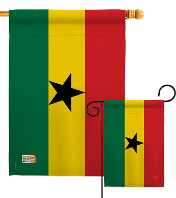Ghana - Nationality Flags of the World Vertical Impressions Decorative Flags HG108221 Made In USA