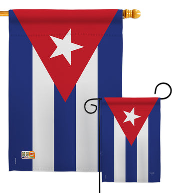 Cuba - Nationality Flags of the World Vertical Impressions Decorative Flags HG108223 Made In USA