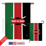 Kenya - Nationality Flags of the World Vertical Impressions Decorative Flags HG108242 Printed In USA
