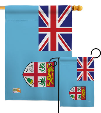 Fiji - Nationality Flags of the World Vertical Impressions Decorative Flags HG108264 Made In USA