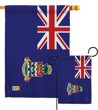 Cayman Islands - Nationality Flags of the World Vertical Impressions Decorative Flags HG108266 Made In USA