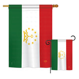 Tajikistan - Nationality Flags of the World Vertical Impressions Decorative Flags HG108276 Printed In USA
