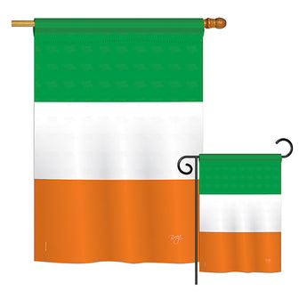 Ireland Country - Nationality Flags of the World Vertical Impressions Decorative Flags HG108279 Printed In USA