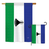Lesotho - Nationality Flags of the World Vertical Impressions Decorative Flags HG108288 Printed In USA
