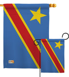 DR Congo - Nationality Flags of the World Vertical Impressions Decorative Flags HG108291 Made In USA