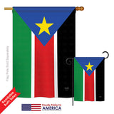 South Sudan - Nationality Flags of the World Vertical Impressions Decorative Flags HG108296 Printed In USA