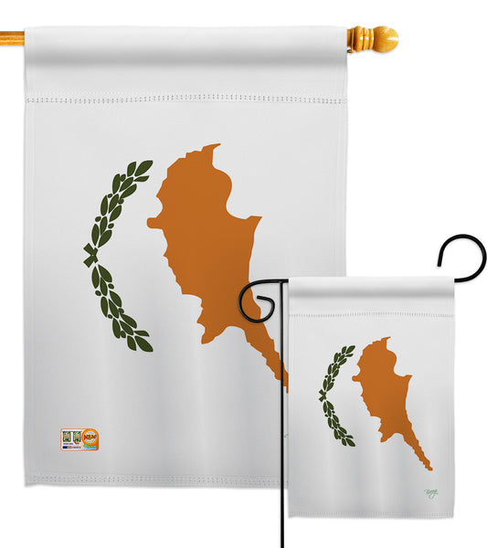 Cyprus - Nationality Flags of the World Vertical Impressions Decorative Flags HG108318 Made In USA