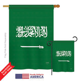 Saudi Arabia - Nationality Flags of the World Vertical Impressions Decorative Flags HG108327 Printed In USA