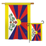 Tibet - Nationality Flags of the World Vertical Impressions Decorative Flags HG108333 Printed In USA