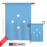 Micronesia - Nationality Flags of the World Vertical Impressions Decorative Flags HG108352 Printed In USA