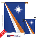Marshall Islands - Nationality Flags of the World Vertical Impressions Decorative Flags HG108356 Printed In USA