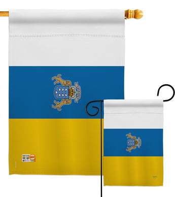 Canary Islands - Nationality Flags of the World Vertical Impressions Decorative Flags HG108375 Made In USA