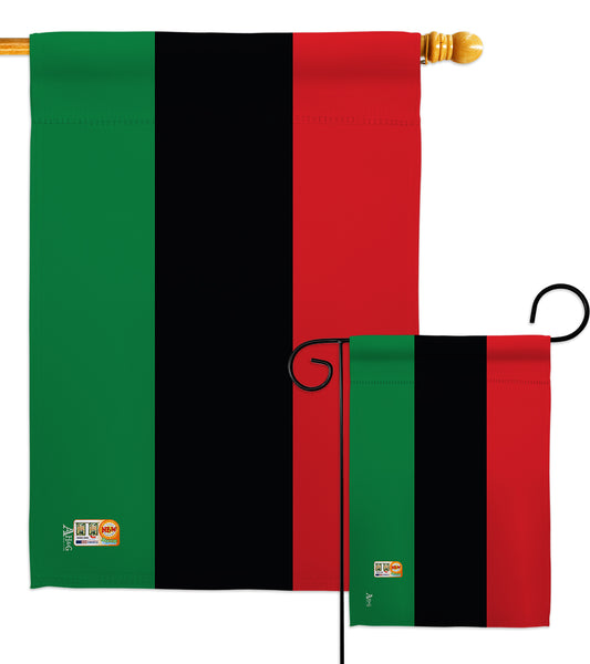 African American - Nationality Flags of the World Vertical Impressions Decorative Flags HG140001 Made In USA