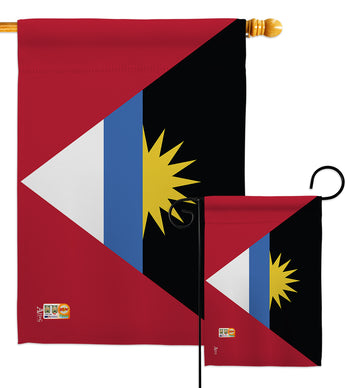 Antigua & Barbuda - Nationality Flags of the World Vertical Impressions Decorative Flags HG140009 Made In USA