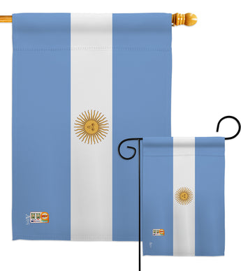 Argentina - Nationality Flags of the World Vertical Impressions Decorative Flags HG140010 Made In USA