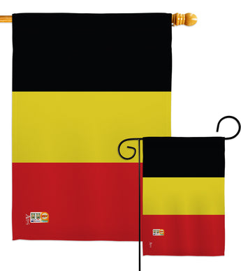 Belgium - Nationality Flags of the World Vertical Impressions Decorative Flags HG140027 Made In USA