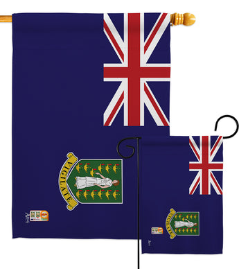 British Virgin Islands - Nationality Flags of the World Vertical Impressions Decorative Flags HG140036 Made In USA
