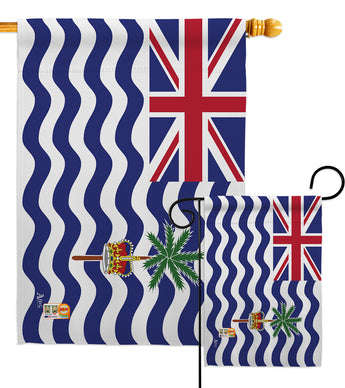 British Indian Ocean Territory - Nationality Flags of the World Vertical Impressions Decorative Flags HG140038 Made In USA