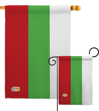 Bulgaria - Nationality Flags of the World Vertical Impressions Decorative Flags HG140040 Made In USA