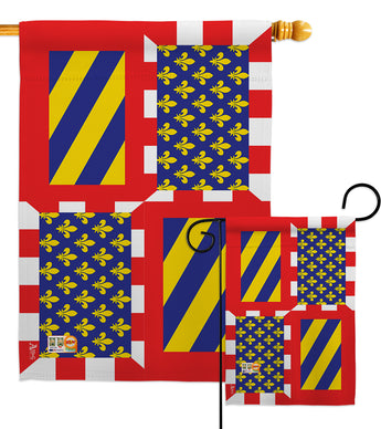 Burgundy - Nationality Flags of the World Vertical Impressions Decorative Flags HG140042 Made In USA