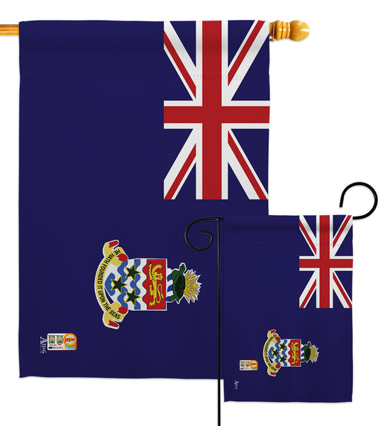 Cayman Islands - Nationality Flags of the World Vertical Impressions Decorative Flags HG140048 Made In USA