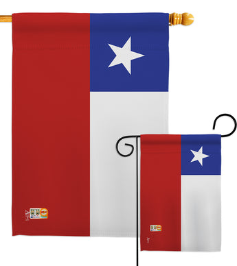 Chile - Nationality Flags of the World Vertical Impressions Decorative Flags HG140051 Made In USA
