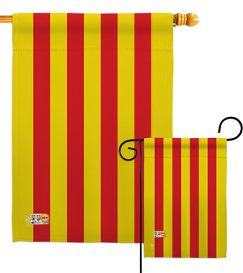 Catalonia - Nationality Flags of the World Vertical Impressions Decorative Flags HG140053 Made In USA