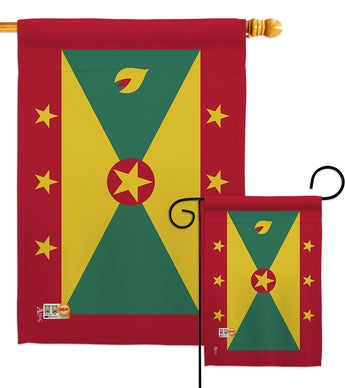 Grenada - Nationality Flags of the World Vertical Impressions Decorative Flags HG140096 Made In USA