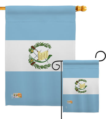 Guatemala - Nationality Flags of the World Vertical Impressions Decorative Flags HG140098 Made In USA