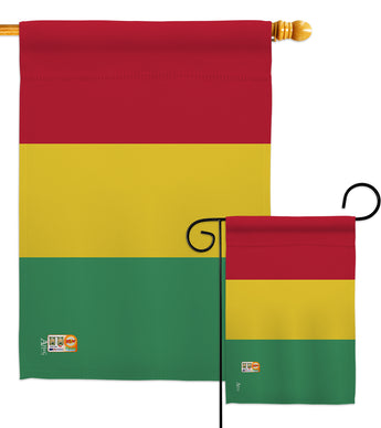 Guinea - Nationality Flags of the World Vertical Impressions Decorative Flags HG140100 Made In USA
