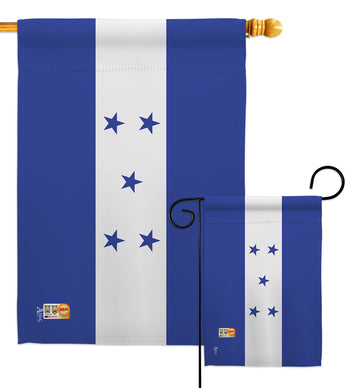 Honduras - Nationality Flags of the World Vertical Impressions Decorative Flags HG140104 Made In USA