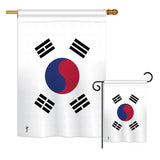 Korea South - Nationality Flags of the World Vertical Impressions Decorative Flags HG140129 Printed In USA