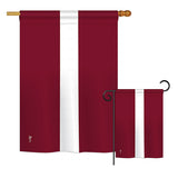 Latvia - Nationality Flags of the World Vertical Impressions Decorative Flags HG140133 Printed In USA