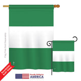 Nigeria - Nationality Flags of the World Vertical Impressions Decorative Flags HG140171 Printed In USA