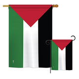Palestine - Nationality Flags of the World Vertical Impressions Decorative Flags HG140181 Printed In USA