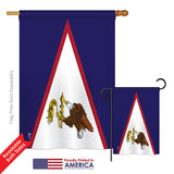 Samoa - American - Nationality Flags of the World Vertical Impressions Decorative Flags HG140201 Printed In USA