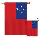 Samoa - Nationality Flags of the World Vertical Impressions Decorative Flags HG140202 Printed In USA