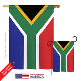 South Africa - Nationality Flags of the World Vertical Impressions Decorative Flags HG140218 Printed In USA
